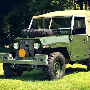 "1969 Land Rover Series IIA Air Portable front side1 - 1969 Land Rover Series IIA ""Air-Portable"""