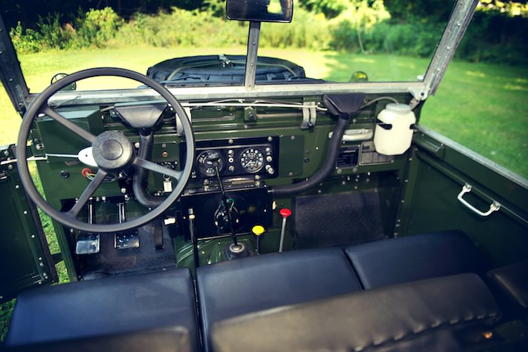 1969 Land Rover Series IIA Air Portable interior 1969 Land Rover Series IIA Air Portable