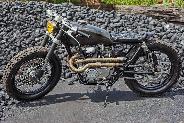 Honda CB250 Custom Motorbike 11