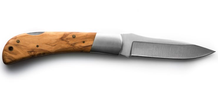 Italian Olive Wood Folding Knife