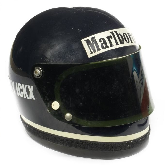 Jacky Ickx's 1976 Formula 1 and Le Mans Helmet