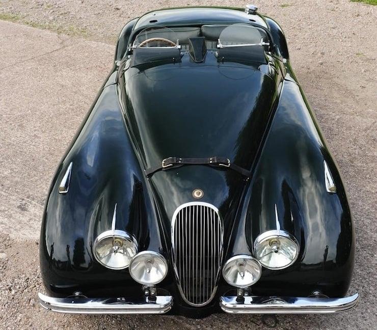 Jaguar XK120 front 1951 Jaguar XK120 3.8 Litre Competition Roadster