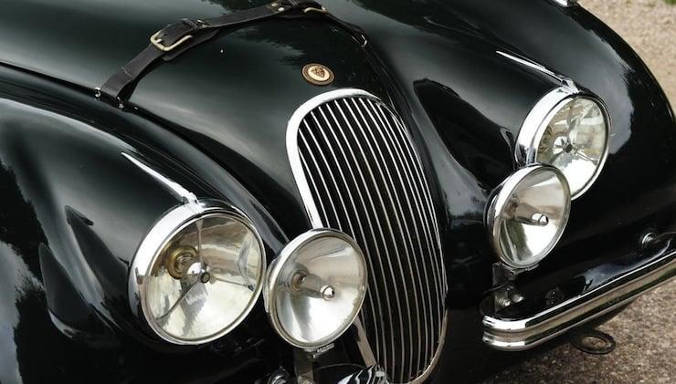 Jaguar XK120 headlights 1951 Jaguar XK120 3.8 Litre Competition Roadster