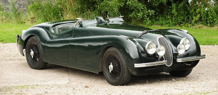Jaguar XK120 side on