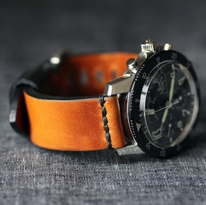 M1 HORWEEN RYE SINN11 - Horween Leather Watch Straps by Worn & Wound
