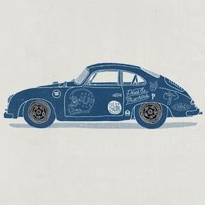 Porsche 356 Poster1 - Porsche 356 Poster by Deus Ex Machina