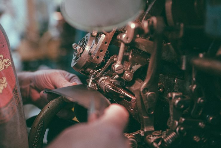 Red Wing Factory hand making