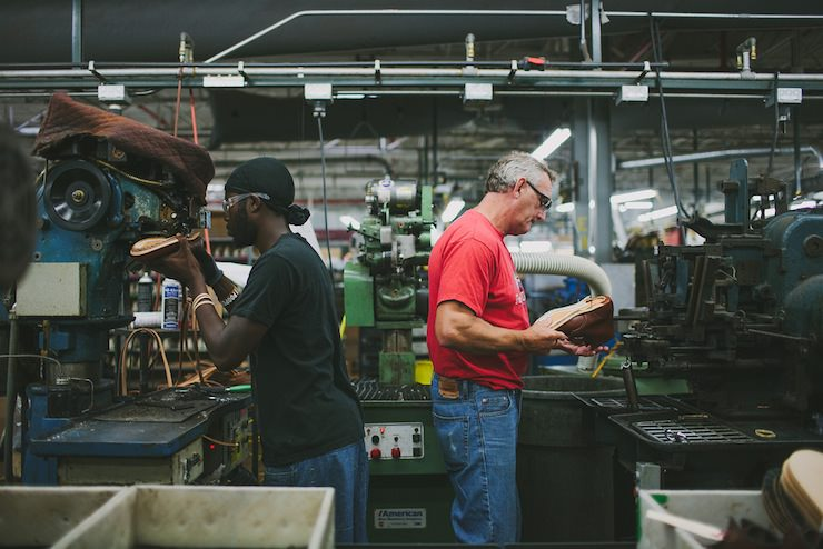 Red Wing Factory machining