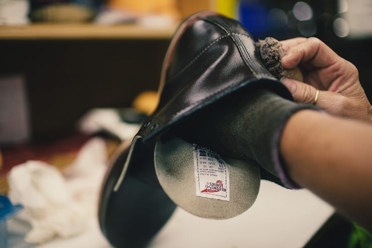 Red Wing Factory polish