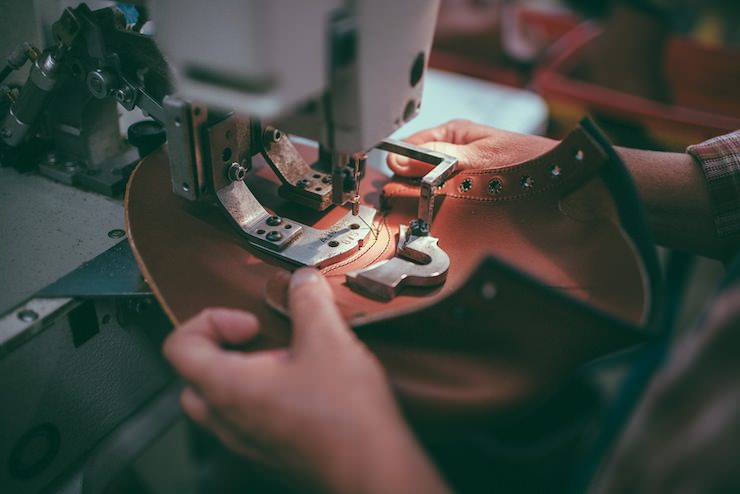 Red Wing Factory stitching