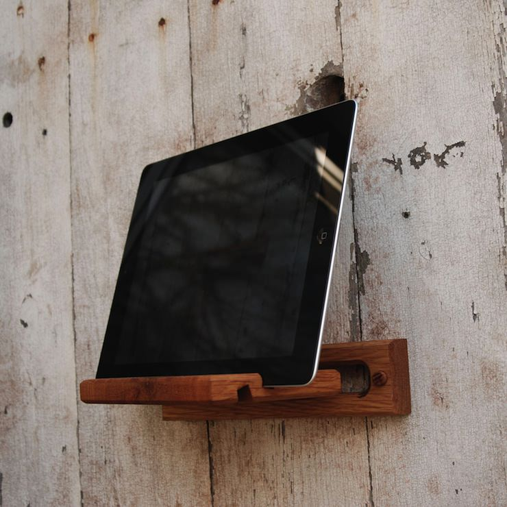 wooden iPad Mount