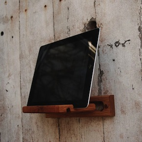 wooden iPad Mount1 - iPad Mount by Peg and Awl