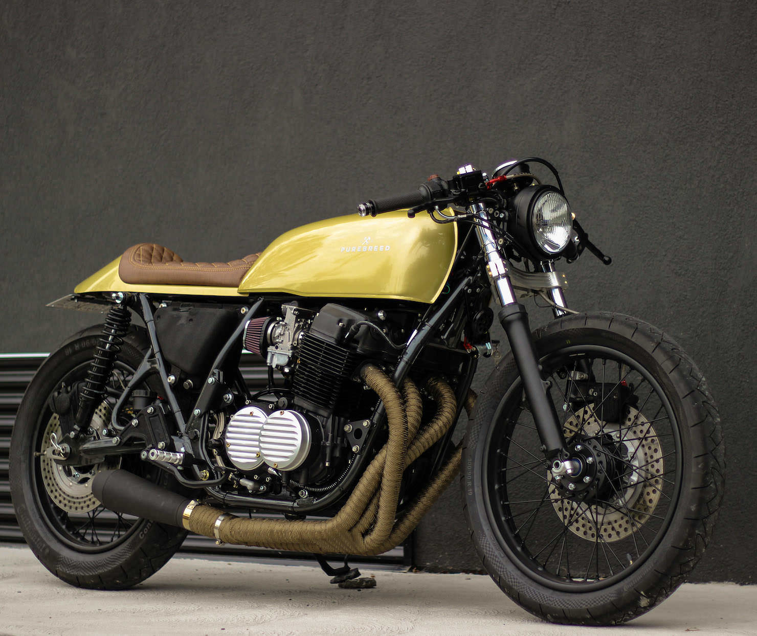 honda cb750 custom by purebreed fine motorcycles. Black Bedroom Furniture Sets. Home Design Ideas