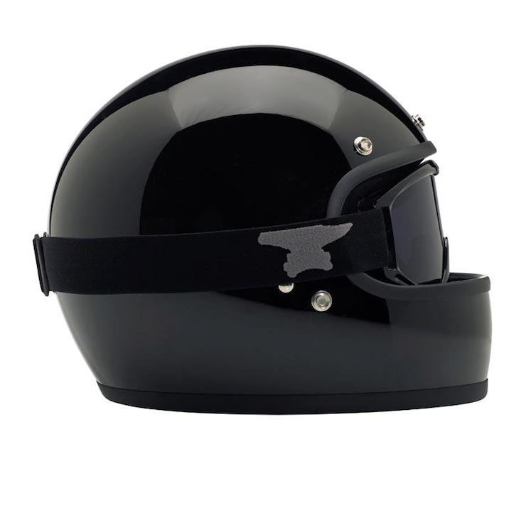 DOT-certified, retro, full-face helmet black