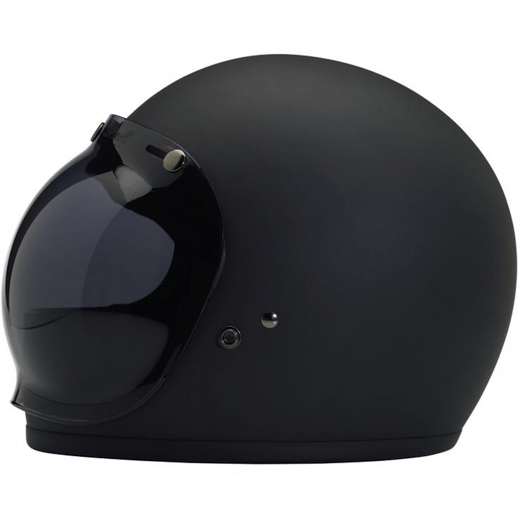 DOT-certified, retro, full-face helmet bubble shield
