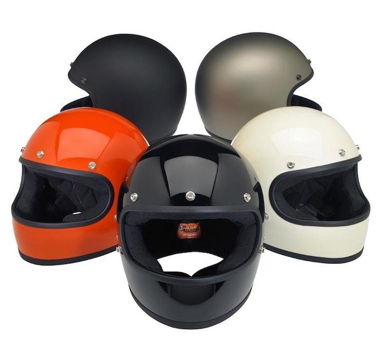 DOT-certified, retro, full-face helmet colours