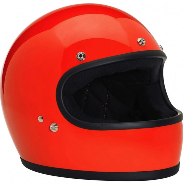 DOT-certified, retro, full-face helmet gringo