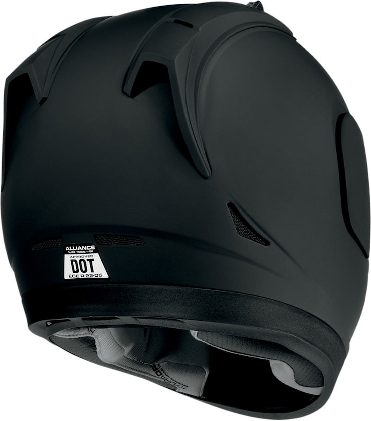 Icon Alliance Dark Helmet Back
