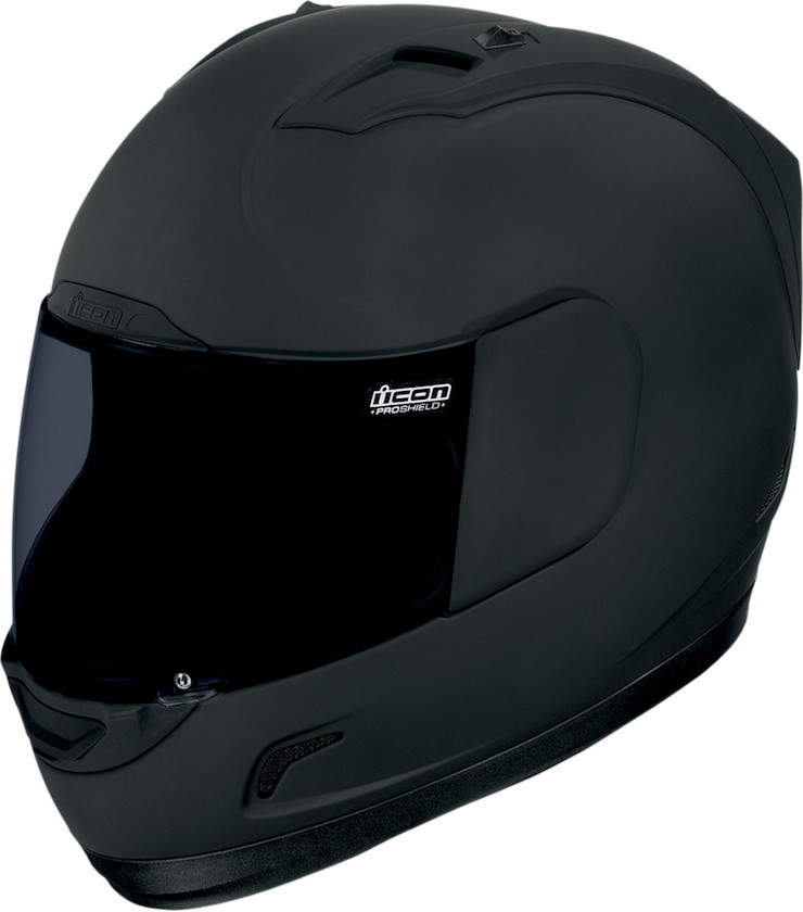 Icon Alliance Dark Helmet Front