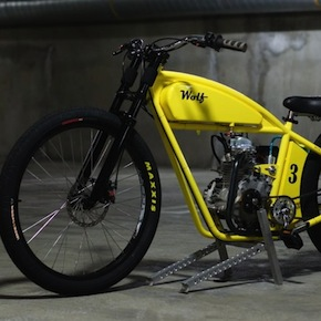 Motorized Bicycle 41 - Board Tracker by Wolf Creative Customs