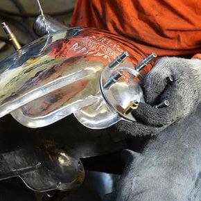 Randy Johnson Randy Grubb Deco Helmet 3 HR1 - How To Build An Art Deco Motorcycle Helmet