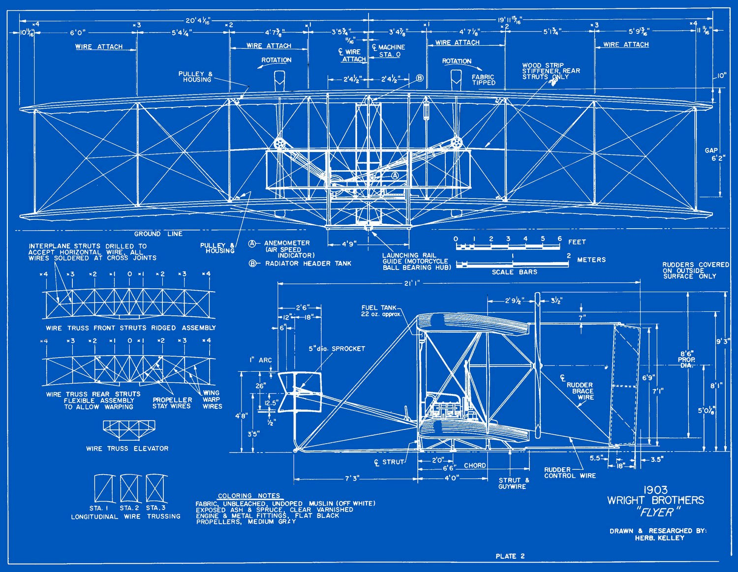 1903 wright flyer blueprints free download for Free blueprints online