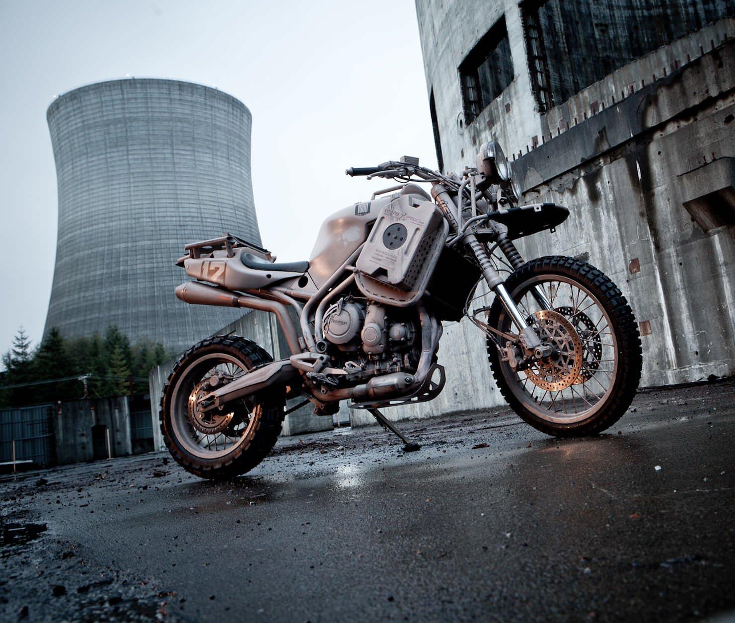 Custom Welding Helmets >> Triumph Tiger 800XC by Icon 1000