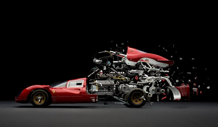 Fabien Oefner's Disintegrating Cars 1 740x432 Fabien Oefner's Disintegrating Cars