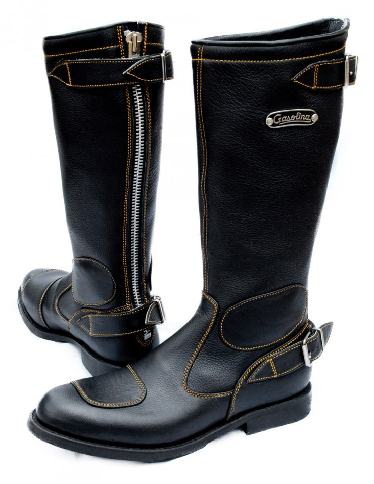 Gasolina Classic Motorcycle Boots