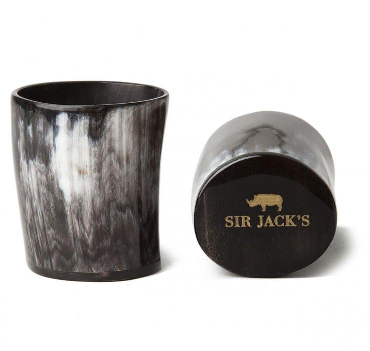 Sir Jacks Ox Horn Whiskey Tumblers
