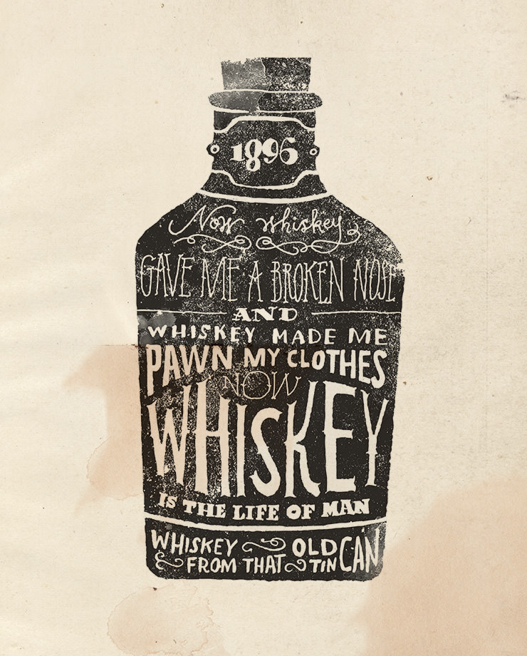 Whiskey Poster by Jon Contino