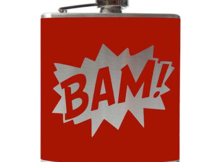 BAM Hip Flask 2 450x330 - BAM & POW Hip Flasks