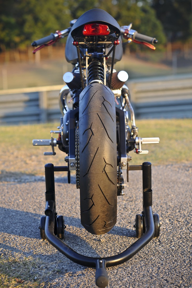 Bucephalus Triumph Custom Motorcycle 4 740x1110 Bucephalus by Loaded Gun Customs