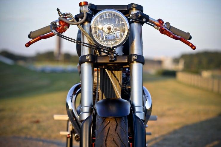 Bucephalus Triumph Custom Motorcycle 5 740x493 Bucephalus by Loaded Gun Customs
