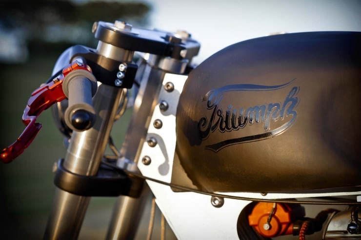 Bucephalus Triumph Custom Motorcycle 6 740x492 Bucephalus by Loaded Gun Customs