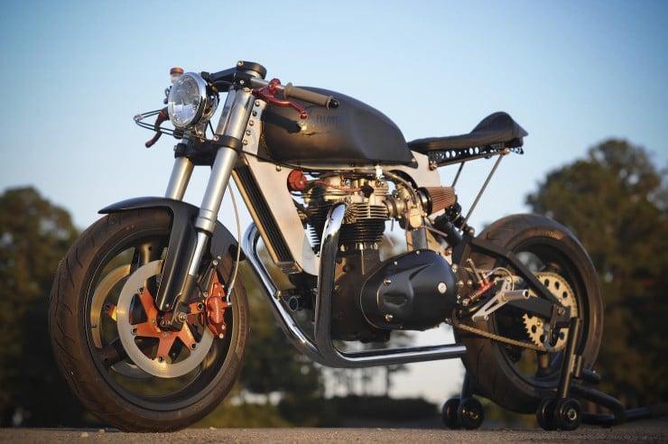 Bucephalus Triumph Custom Motorcycle 740x492 Bucephalus by Loaded Gun Customs