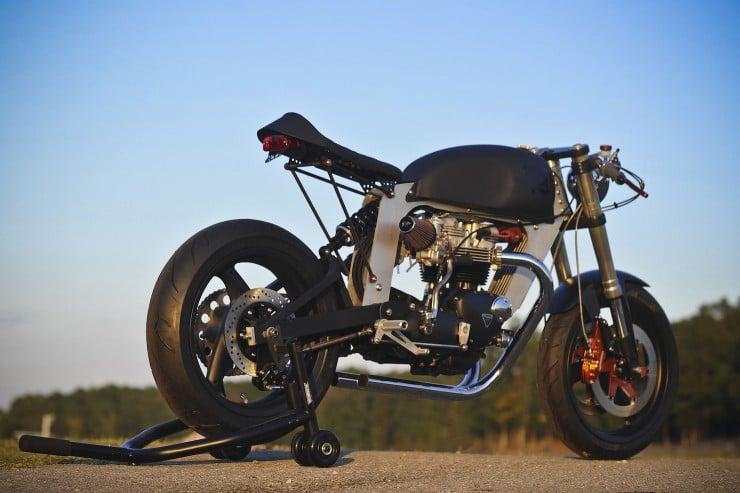 Bucephalus Triumph Custom Motorcycle 8 740x493 Bucephalus by Loaded Gun Customs
