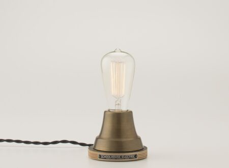 Brass Ion Lamp by Schoolhouse Electric 450x330 - Brass Ion Lamp by Schoolhouse Electric