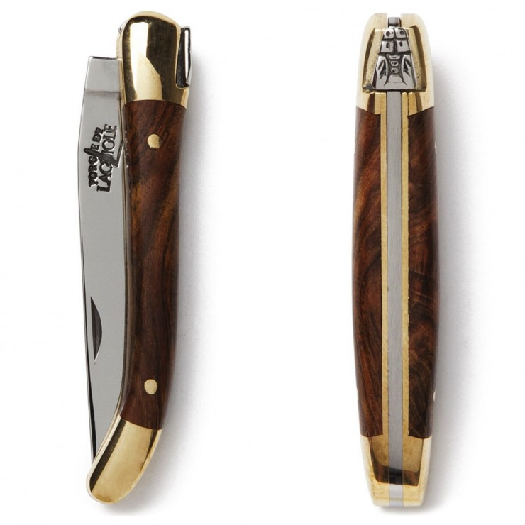 Laguiole Pocketknife with Pistachio Wood Handle 4