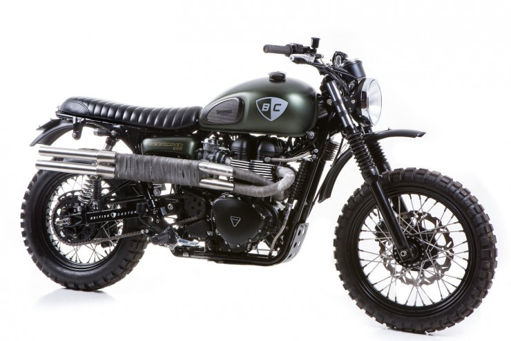 Triumph Scrambler 13 740x493 The Dirt Bike by British Customs