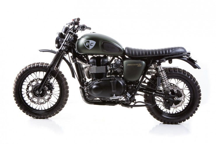 Triumph Scrambler 740x493 The Dirt Bike by British Customs