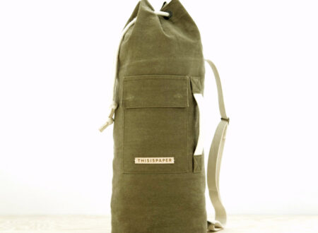Waxed Cylinder Bag 450x330 - Waxed Cylinder Bag by This Is Paper