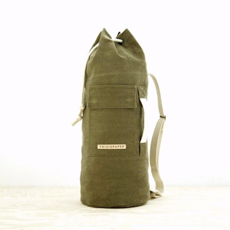 Waxed Cylinder Bag