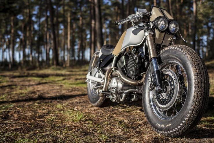 Yamaha Virago XV535 5 740x493 Yamaha Virago XV535 by Old Empire Motorcycles