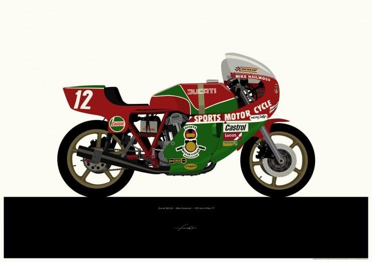 Ducati 900SS-print