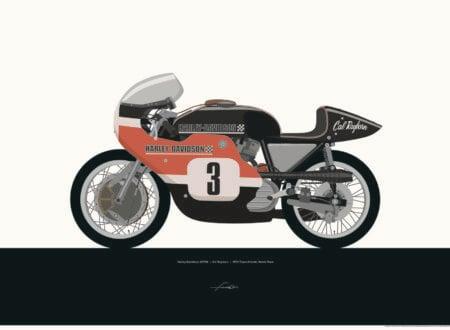 P Harley XR750 450x330 - Moto Art by Francis Ooi