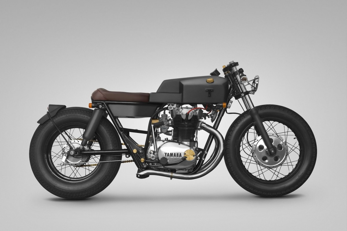 caf racer 76 yamaha xs650 custom by thrive motorcycle. Black Bedroom Furniture Sets. Home Design Ideas