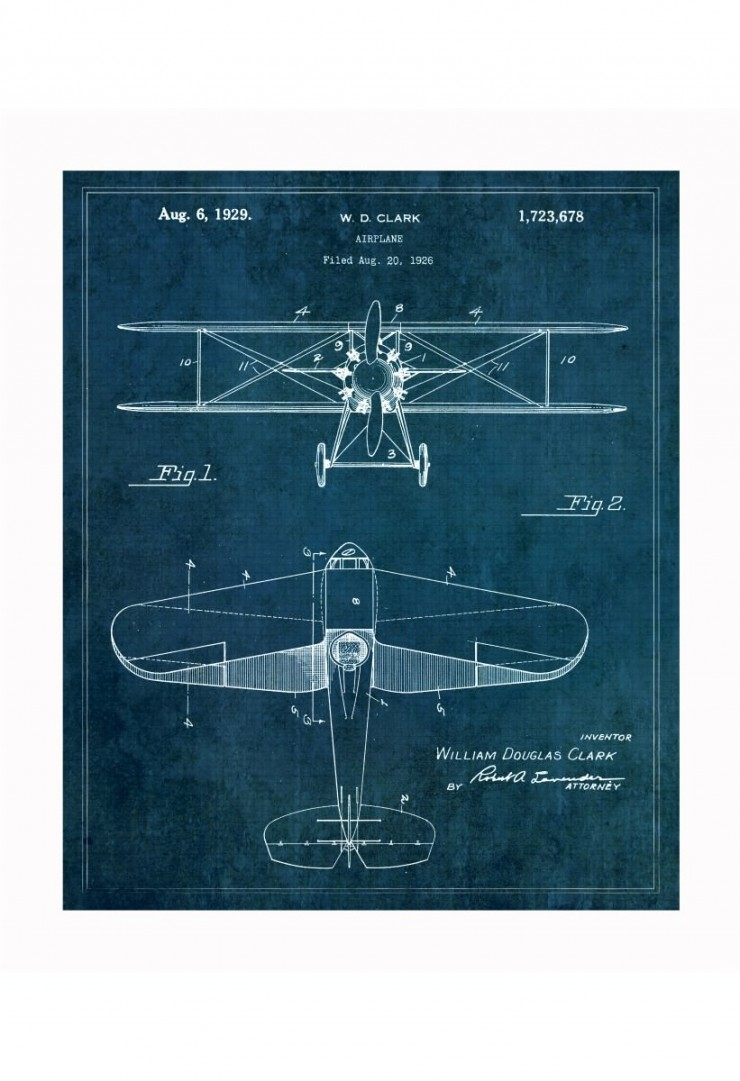 airplane blueprints 740x1081 Vintage Patent Application Posters