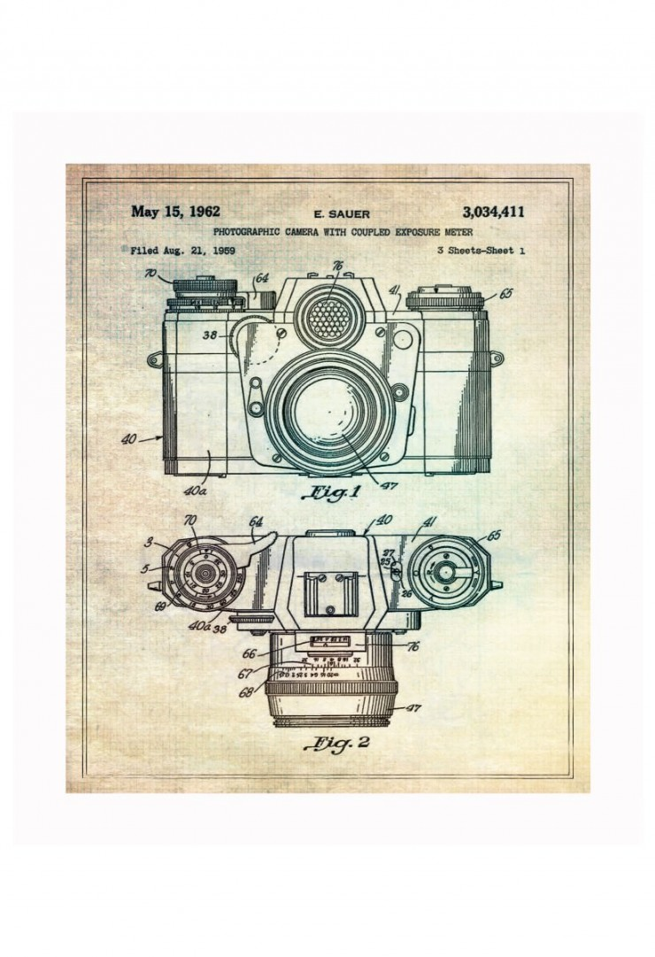 camera blueprints 740x1081 Vintage Patent Application Posters