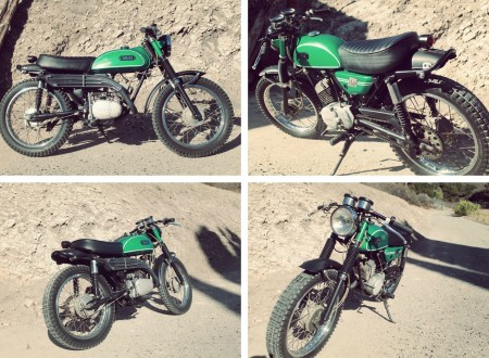 vintage enduro motorcycle